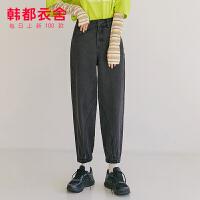 韩都衣舍2020年新款女装春季韩版老爹裤灯笼牛仔裤JM10227�R