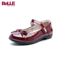 百丽Belle童鞋18新款轻便儿童皮鞋女童时装鞋中童高雅文艺舞蹈鞋 (5-10岁可选) DE0586