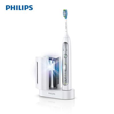飞利浦(PHILIPS)电动牙刷 HX9172 成人充电式 声波震动牙刷 智能计时呵护牙龈 牙刷头紫外线消毒器 带压力感应 紫外线消毒器,改善牙龈健康,