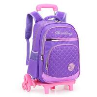 儿童拉杆书包三轮可爬楼梯小学生双肩包男女孩2-6年级减负护脊背包户外休闲便携托运包