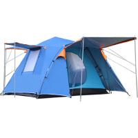 全自动户外帐篷2-4人家庭野外露营加厚二室一厅
