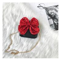 儿童包包女公主时尚包新款韩版链条单肩包蝴蝶结斜挎包宝宝包