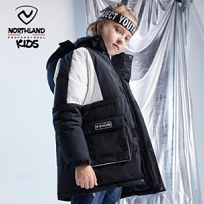 诺诗兰童装男童羽绒服2019冬装新款儿童中长款大童羽绒外套保暖