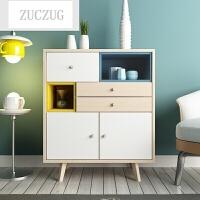 ZUCZUG北欧格调客厅储物柜展示柜组合柜子餐边柜客厅家具装饰柜玄关柜 2017新款色 6门以上