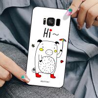 三星s8手机壳Samsungs8套硅胶sm-g950u彩绘g9550软壳个性smg9500小猪盖乐世