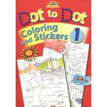 【预订】Dot to Dot Coloring and Stickers [With Stickers]