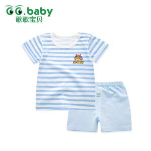 歌歌宝贝宝宝短袖套装男童夏装2017新款小孩儿夏季短袖短裤