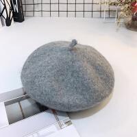 韩版秋冬女童蓓蕾帽儿童保暖帽女孩百搭画家帽亲子羊毛呢贝雷帽潮 均码