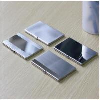 优质不锈钢商务随身名片夹时尚男士女士创意名片盒 可定制单位LOGO