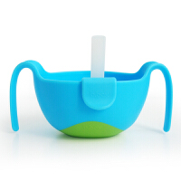 W 零食碗三合一宝宝喝汤喝粥 三合一辅食碗 零食碗泼洒带盖硅胶D12