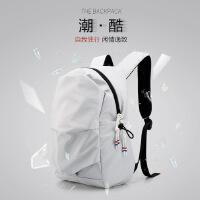 双肩包男简约个性书包女休闲韩版潮流时尚电脑包户外旅行轻便背包