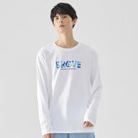 【5.16-5.17日抢购价:55】美特斯邦威男迷彩印花长袖T恤