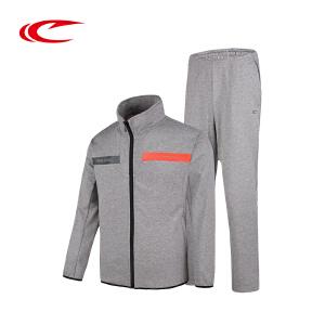 赛琪运动套装男秋季新款2017长袖长裤休闲套装跑步运动服男两件套