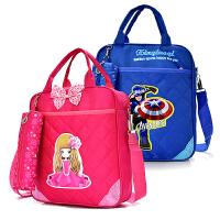 补习袋中小学生手提袋帆布书袋男女儿童补课包单肩斜挎书包