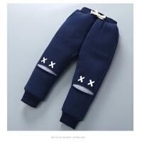 男童新款裤子加绒加厚冬装儿童女宝宝婴幼小童三层保暖棉裤外穿