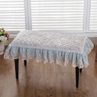 钢琴凳罩方凳垫方形椅垫坐垫垫罩办公室椅垫蕾丝单人双人凳垫