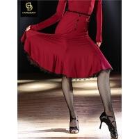 dancebaby拉丁舞裙新款国标舞服装女跳舞表演练功半身裙DA842