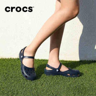 crocs卡洛驰女鞋专柜正品卡琳克骆格沙滩洞洞鞋凉鞋女|202494 卡琳克骆格