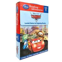 英文原版 Reading Adventures Cars level 1 迪士尼 皮克斯 汽车系列10册套装盒装