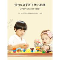 日本银鸟 橡皮泥无毒彩泥儿童宝宝手工模具工具套装女孩超轻粘土