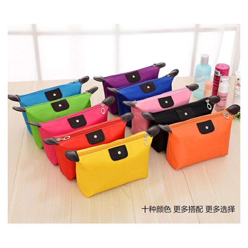 韩版可爱饺子化妆包糖果色化妆品收纳包 旅行防水洗漱包可