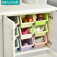 百露小号带轮可叠加厨房置物架蔬菜置物架水果收纳架储物架夹缝架