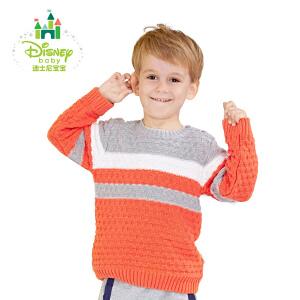 迪士尼Disney童装男童毛衣纯棉针织衫儿童秋装新品套头上衣173S939
