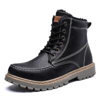 冬季中帮马丁靴男英伦风高帮加绒保暖工装男鞋百搭复古潮雪地靴男