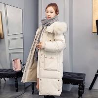 羽绒女中长款冬季新款韩版加厚大毛领棉衣过膝棉袄外套潮