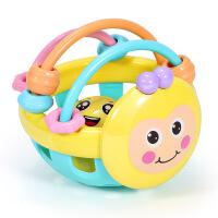 玩具小孩宝宝响铃益智初生手拿手摇早教婴儿摇铃软胶哑铃新生儿