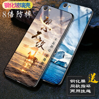 vivoy67手机壳 vivoy66手机壳 vivo y66a钢化玻璃y67l硅胶全包防摔男女款镜面彩绘保护壳套