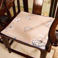 中式椅子坐红木家具沙发坐垫太师圈椅垫防滑实木餐椅垫凳子厚垫