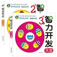 儿童智力开发大全2册 2-3岁/3-4岁幼儿启蒙认知早教亲子阅读书籍 两岁三岁四岁左右脑益智游戏图书 宝宝语言数学能力