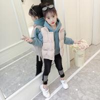 童装女童套装冬装时髦卫衣三件套潮款马甲2018女大童洋气衣服韩版