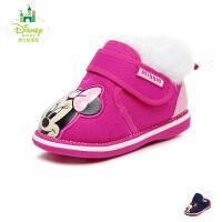 迪士尼disney童鞋17冬季婴幼童宝宝鞋加绒保暖学步鞋哔哔哨米奇婴儿鞋 (0-3岁可选) DH0202