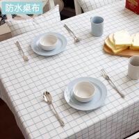 防水桌布布艺台布棉麻防烫茶几方格子正方形家用餐桌布长方形欧式