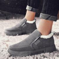 冬季雪地靴男士高帮男鞋韩版潮流中帮加绒保暖棉鞋大黄棉靴男靴子srr