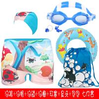 幼儿童游泳衣男童泳镜1-3-5-6-7-8-10岁12男孩小学生平角泳裤套装