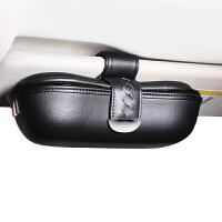 车载眼镜盒架遮阳板汽车眼镜夹子眼睛架多功能太阳蛤蟆车通用