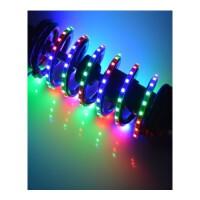 摩托车改装配件彩灯LED灯带闪光灯七彩爆闪跑马流水汽车装饰灯