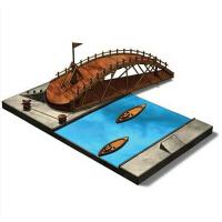 RECESKY 达芬奇手稿复刻拼装模型快速搭建秋千桥 创意益智玩具