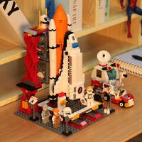 �犯呋�木拼装玩具益智航天飞机系列火箭发射模型6男孩子8生日礼物