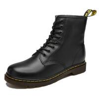新年优惠【NEW】秋季马丁靴英伦风中帮靴高帮皮短靴潮流韩版百搭学生靴子