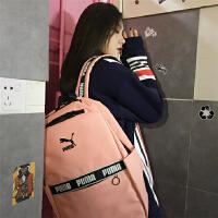 PUMA彪马双肩包串标韩版新款樱花粉色电脑包男女学生书包背包