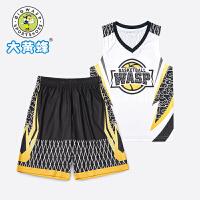 大黄蜂男童套装透气背心短袖2021男孩运动短裤时髦帅气儿童两件套