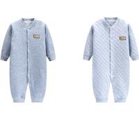 初生新生婴儿连体衣秋冬季加厚0保暖冬装套装女宝宝衣服3个月1岁6