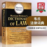 韦氏法律词典 英文原版字典 Merriam Webster's Dictionary of Law 英文版韦氏英英词典