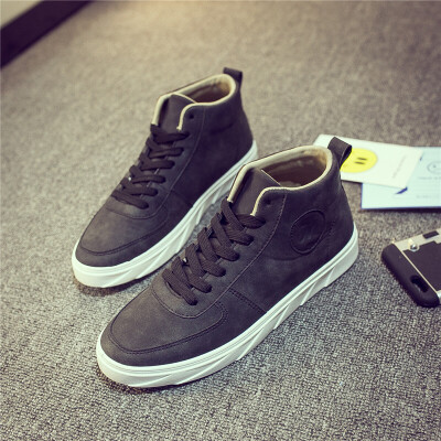 男鞋秋季潮鞋板鞋男士运动休闲鞋韩版百搭高帮鞋加绒棉鞋子男冬