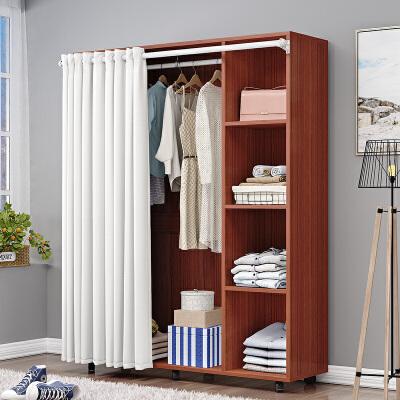 【限时7折】简易衣柜木质组装欧式简约现代经济型单人双人衣橱柜子移动柜落地
