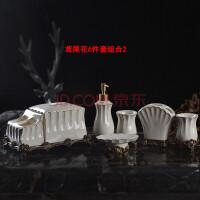 0718084154778欧式陶瓷卫浴五件套装 刷牙漱口杯浴室套装 牙刷架卫浴洗漱套件